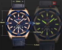 NAVIFORCE Watch Men Sports Watch Mens Watches Top Brand Luxury Military Army Business Leather Strap Quartz