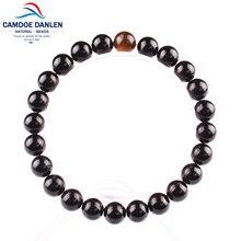 Natural stone Constellation Black Onyx Tiger eye Gift Women Men bracelets & bangles Leo Lovers Energy Strand Charm Bracelets
