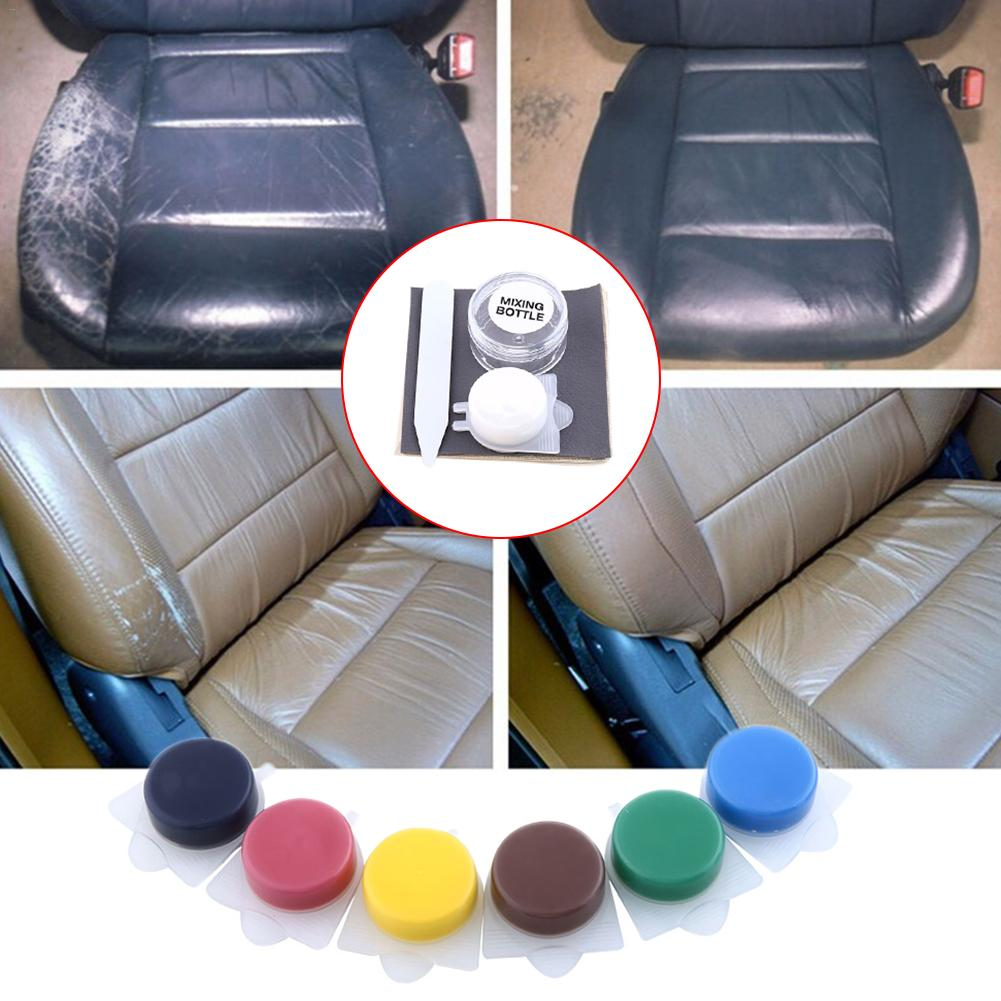 Auto Car Seat Sofa Leather Repair Coats Liquid Skin Holes Scratch Tools Liquid Leather Vinyl Repair Kit Car Sofa Holes Repairing