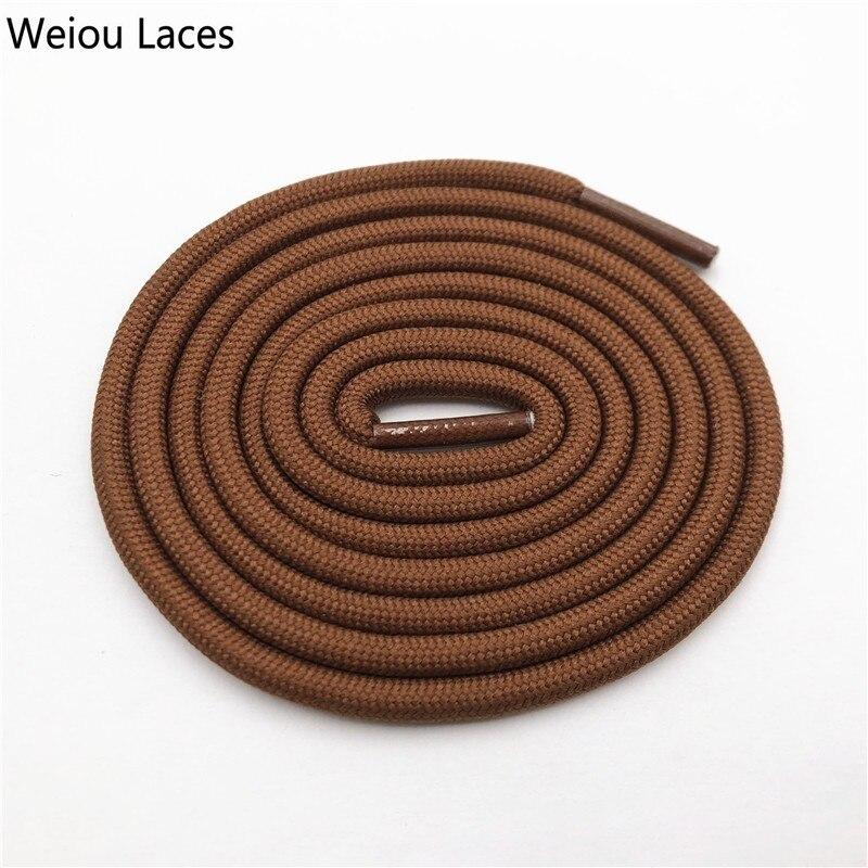 Weiou 0,5 см круглые спортивные шнурки из полиэстера толстые походные шнурки одежда веревка для скалолазания шнурки для ботинок Детские мужские - Цвет: 2708Yellow brown