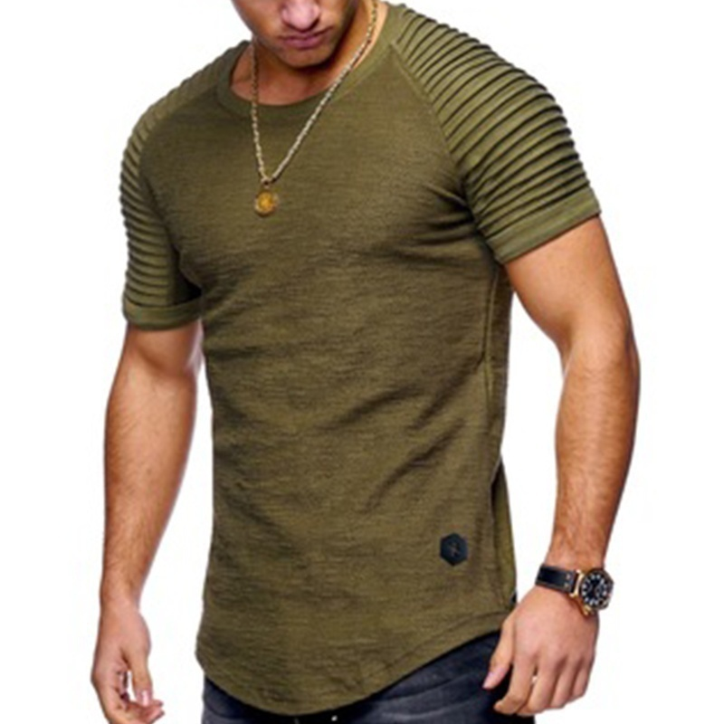 MarKyi Fashion 2019 New Desgin Fold Short Sleeve Tshirt Homme Plus Size 4xl Summer Hip Hop Clothing Style