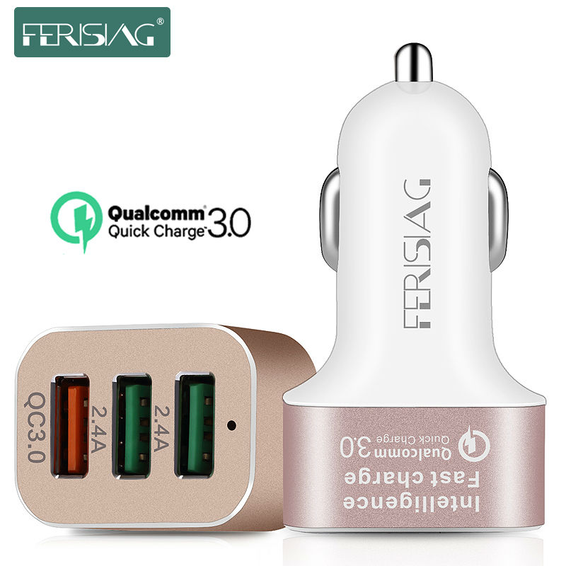 FERISING Car Charger 3 Ports Micro USB 5s