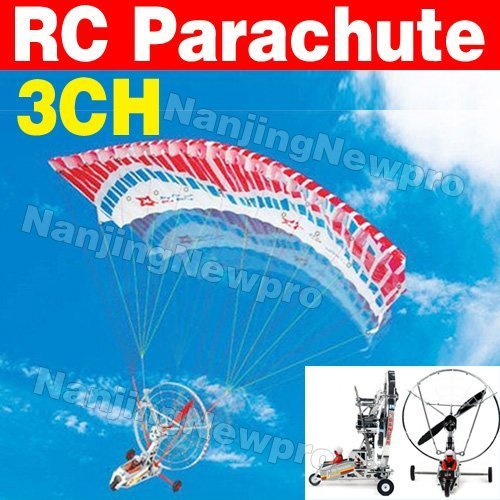 Free shipping ! Novelty ! 3ch radio remote control Parachute paracopter paraplane airplane plane hobby toy blue sky S089