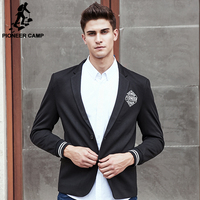 Pioneer Camp New Style Suit Blazer Men Brand Clothing Top Quality Black Male Suit Jacket Fashion