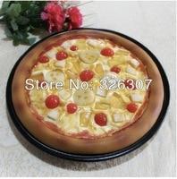 Customize pizza model decoration props artificial cherry fruit pizza Simulation models food restaurant decoration props fake