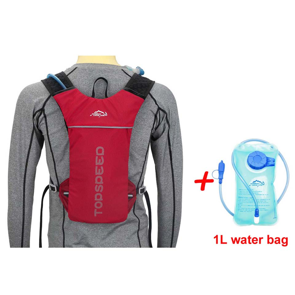 Red with Water bag