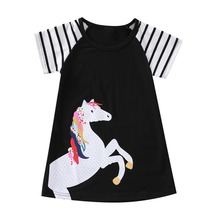 Baby Girls Dress Unicorn Party Summer Floral Dresses for Children Clothing Vestidos Girl Princess Dress Kids Costumes