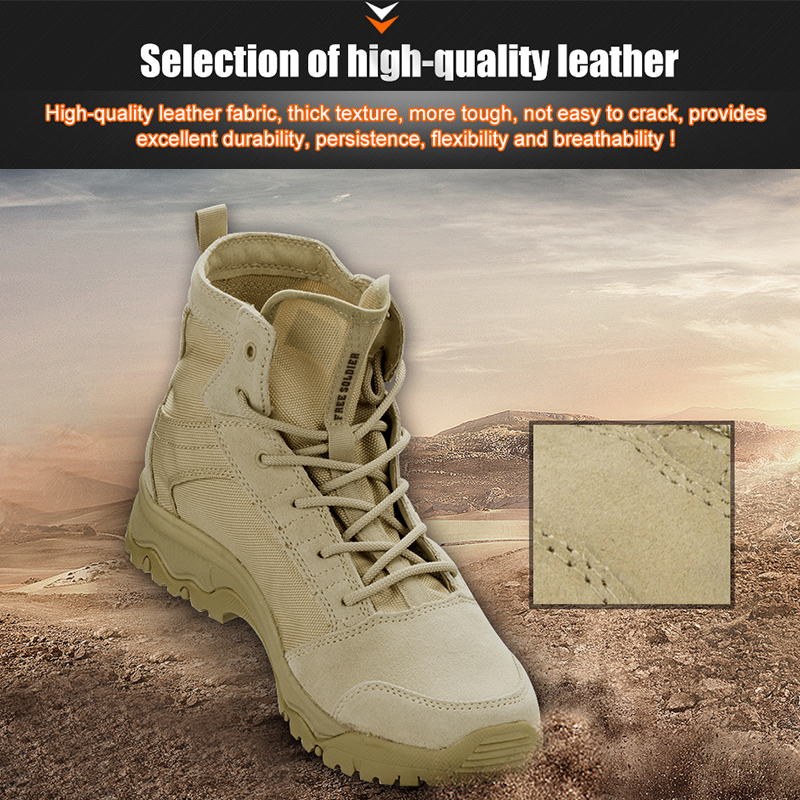33c9a04cc0182 FREE SOLDIER Outdoor Sports Tactical Camping Shoes Men's Boots For Climbing  Breathable Lightweight Mountain Boots Hiking Shoes-in Hiking Shoes from  Sports ...