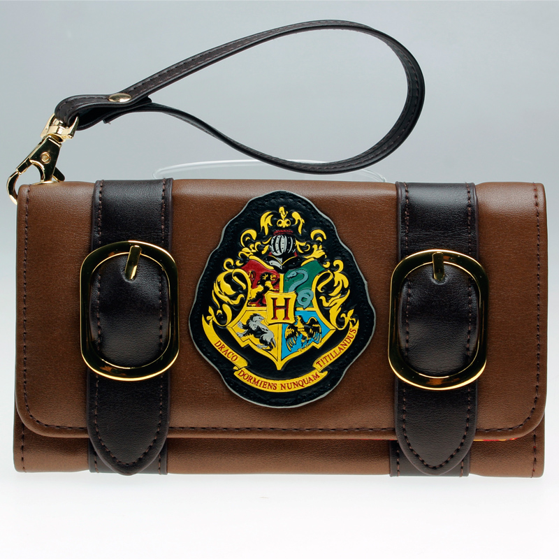 Harry Potter Hogwarts Castle Crest Envelope Satchel Fold Wallet Purse with Tag  DFT-1953 star trek command metal logo bi a fold wallet dft 1404