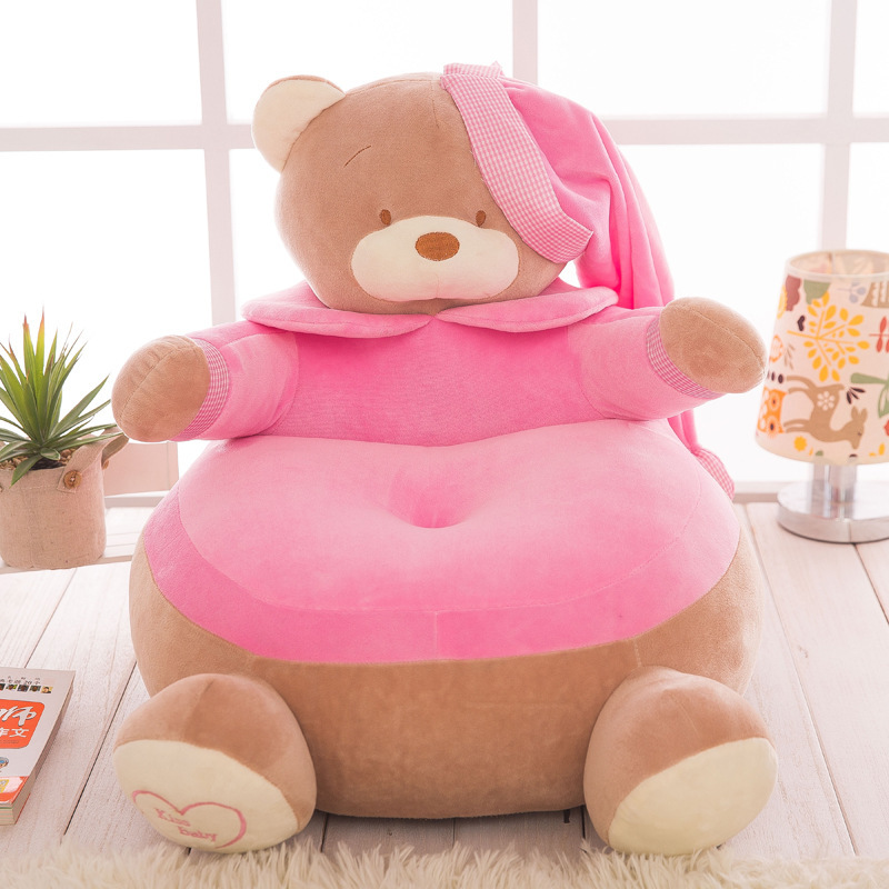 new plush pink bear sofa toy creative stuffed hat bear tatami doll gift about 55cm 0164 fancytrader biggest in the world pluch bear toys real jumbo 134 340cm huge giant plush stuffed bear 2 sizes ft90451