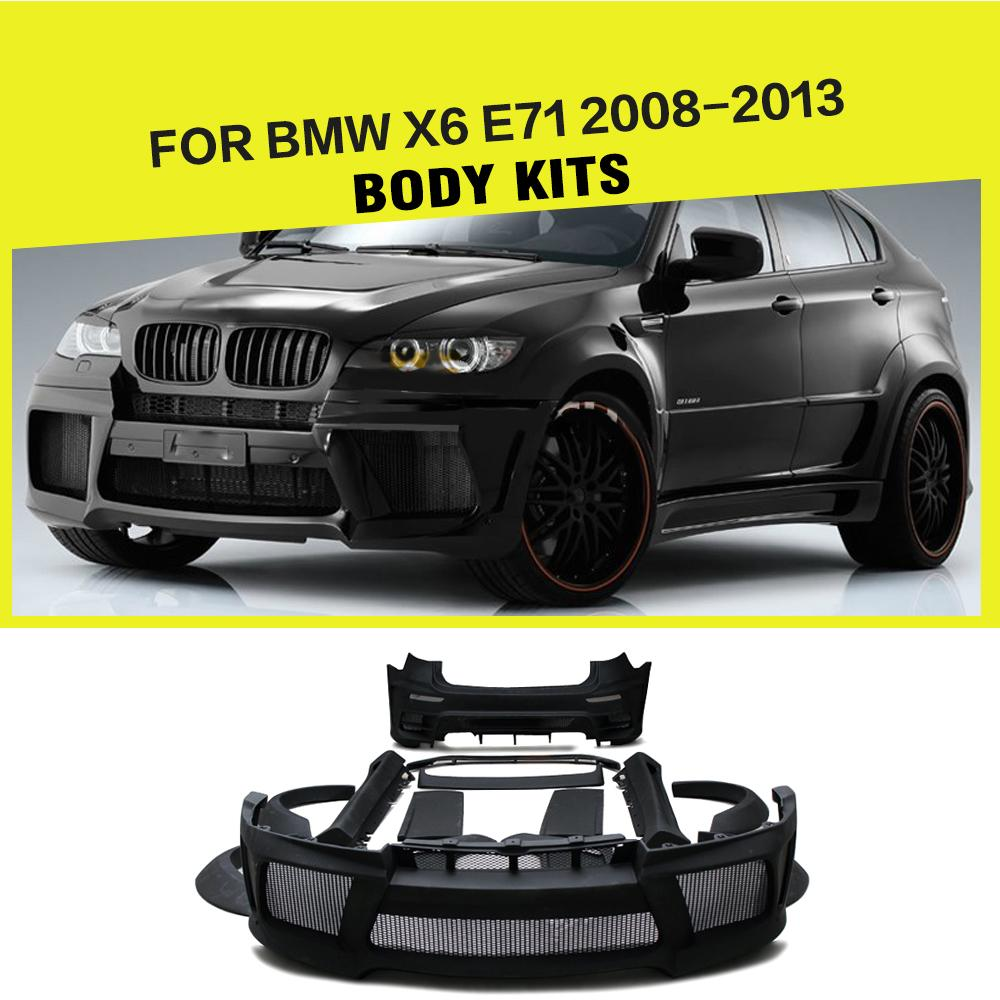 Car styling frp auto car bumper kits del cuerpo para bmw e71 x6 2008