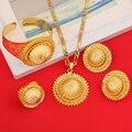 New Design Ethiopian Cross Jewelry Sets Gold Plated Eritrea Religious Items Ethiopia Crosses Enkutatash Ethiopian