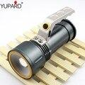 YUPARD Фонарик масштабируемые zoom Прожектор Прожектор XM-L2 T6 белый СВЕТОДИОД красный свет чрезвычайных Факел 18650 аккумуляторная батарея