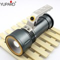 YUPARD zoomable Flashlight zoom Spotlight Searchlight  XM-L2 T6 LED white red light emergency Torch 18650 rechargeable battery