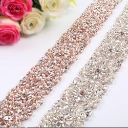 High Quality Rhinestone Dress Belt 2018 Long Crystal Gorgeous Wedding Accessories Bridal Belt   ZA012