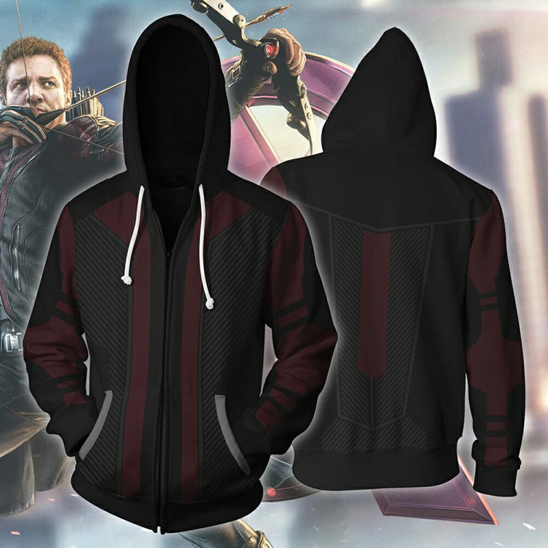 Marvel Super hero Hoodie Sweatshirt Hawkeye Clinton Francis Barton Cosplay Costume Movie Costume Jacket Coats Men and Women New in Movie TV costumes from Novelty Special Use