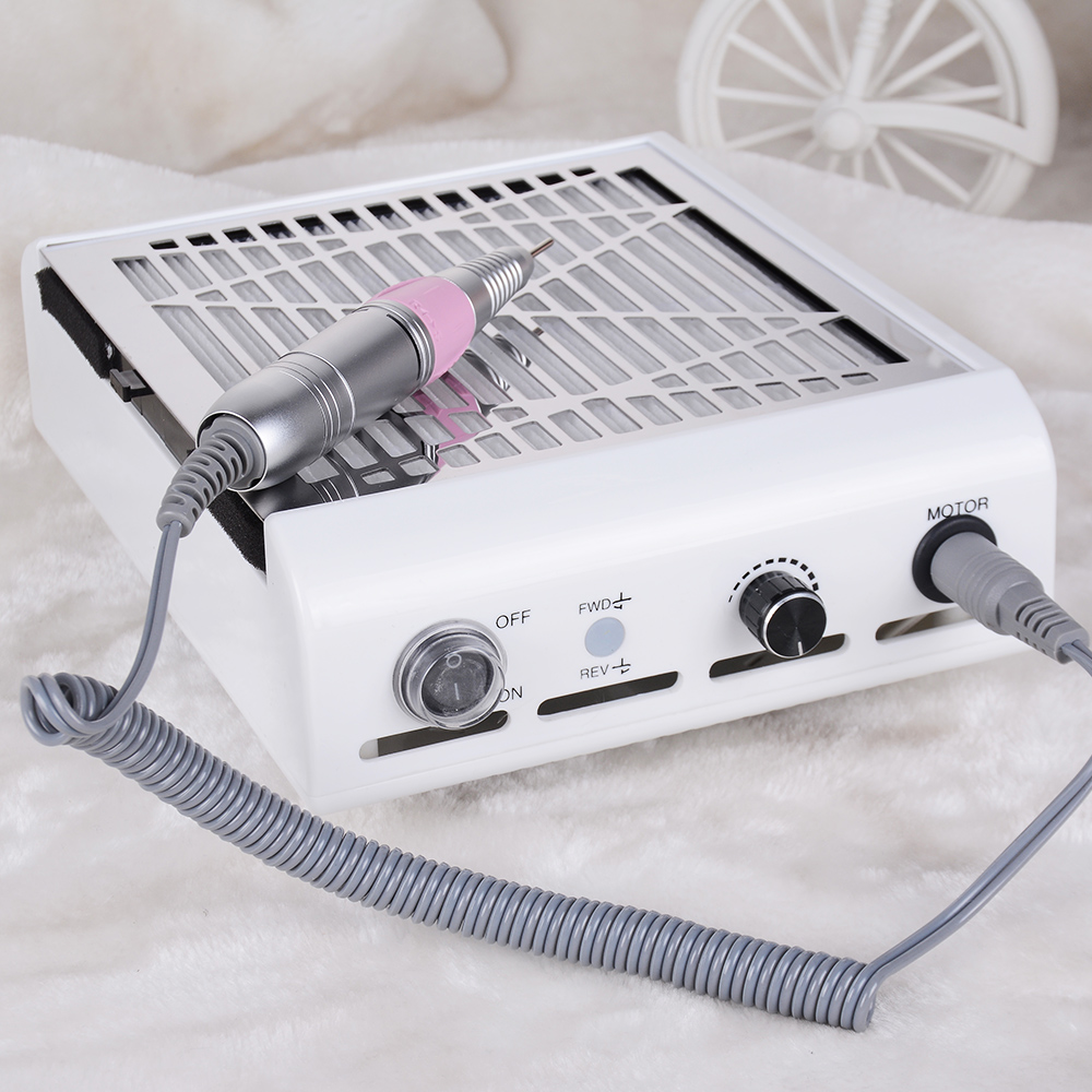 2 IN 1 Electric Manicure Drills and Suction Dust Collector Manicure 30000RPM Nail Drill Pen Machine