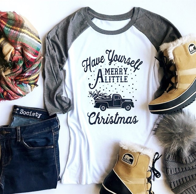 merry christmas women t-shirts harajuku streetwear shirts women 2018 top womens fashion long sleeve shirt women graphic tees