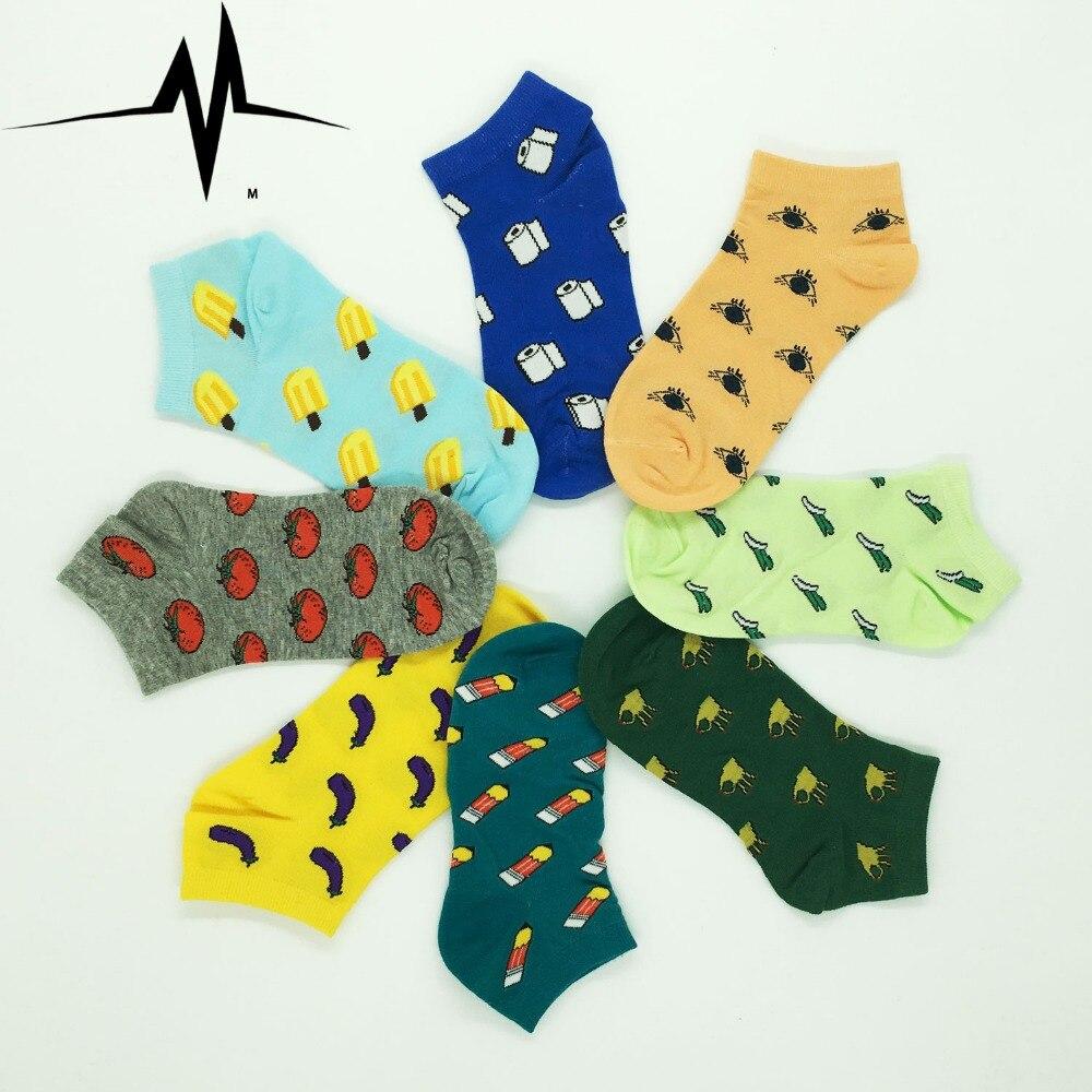 2016 new style women's sock cute fruit banana Casual spring summer Cozy cotton women short socks hosiery for gril WZ037