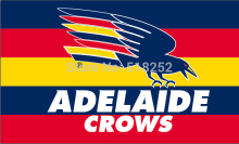 AFL adelaide crows Flag 3×5 FT 150X90CM Banner 100D Polyester flag 2001, free shipping