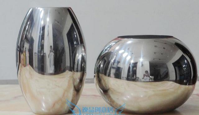 Modern 304 Stainless Steel Tabletop Vase Brief Fashion Floor Vase