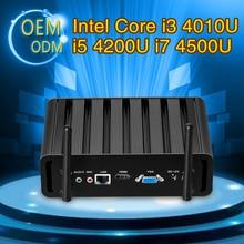 Mini Computer Fanless Mini PC Windows10 Core I3 4010U I5 4200U I7 4500U 8G RAM 256G SSD industrial PC Rugged PC Mini Computador