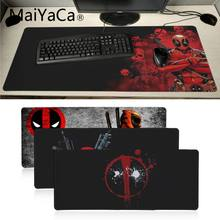 Maiyaca Kualitas Deadpool Iron Man Kecepatan Tinggi Baru Mousepad Besar Gaming Mouse Pad Lockedge Alas Mouse Keyboard Pad(China)