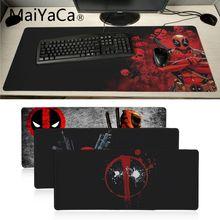 MaiYaCa высокое качество Deadpool Железный человек Высокая скорость новый коврик для мыши большой игровой коврик для мыши Lockedge коврик для мыши Клавиатура
