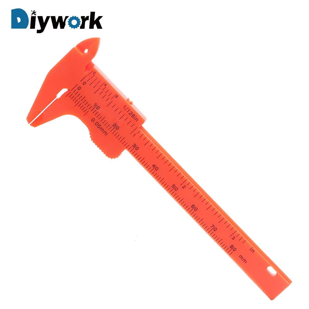 New 1Pc Mini Plastic Ruler Sliding 80mm Vernier Caliper Gauge Measure  Tools HK