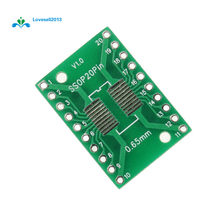 5 Pcs SOP20 SSOP20 TSSOP20 untuk DIP20 Nada 0.65/1.27 Mm IC Adaptor Papan PCB(China)