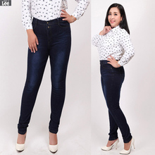 Plus Size 2016 New women sexy jeans long lenght 107cm trousers fashion pants Hot Sale J113