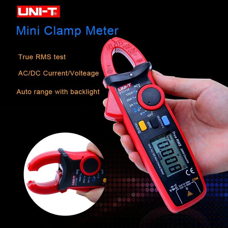 UNI T UT210E Digital Clamp Meter True RMS Auto Range UT210D 2000 Count LCD Display Multimeters Megohmmeter