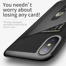Baseus Card Pocket Case For iPhone X