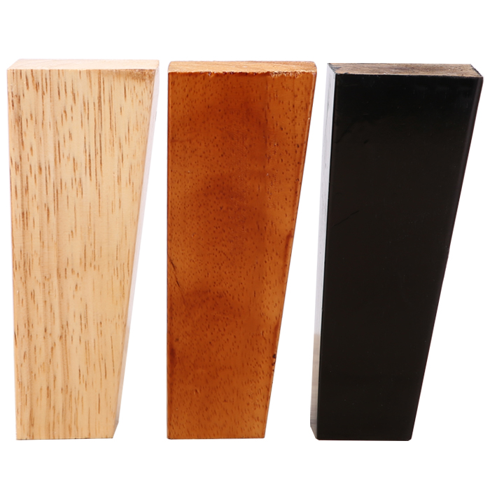4pcs/lot Oak Wood Height Reliable Oblique Inclined Furniture Leg With Iron Plate Sofa Table Cupboard Square Sofa Feet Legs B529