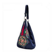 2015 New Design Chinese Style Vintage Embroidery Bag Double Faced Embroidered Flower Shoulder Bag Women Messenger