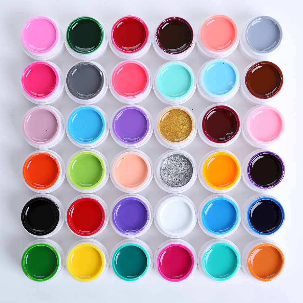 MONASI Silver Golden Red 36 Colors Polish Paint Draw