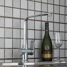 Высокое качество одной ручкой Палуба Гора кухня torneira поворотный 360 Chrome 92316 раковина бассейна вода сосуд туалет смеситель кран