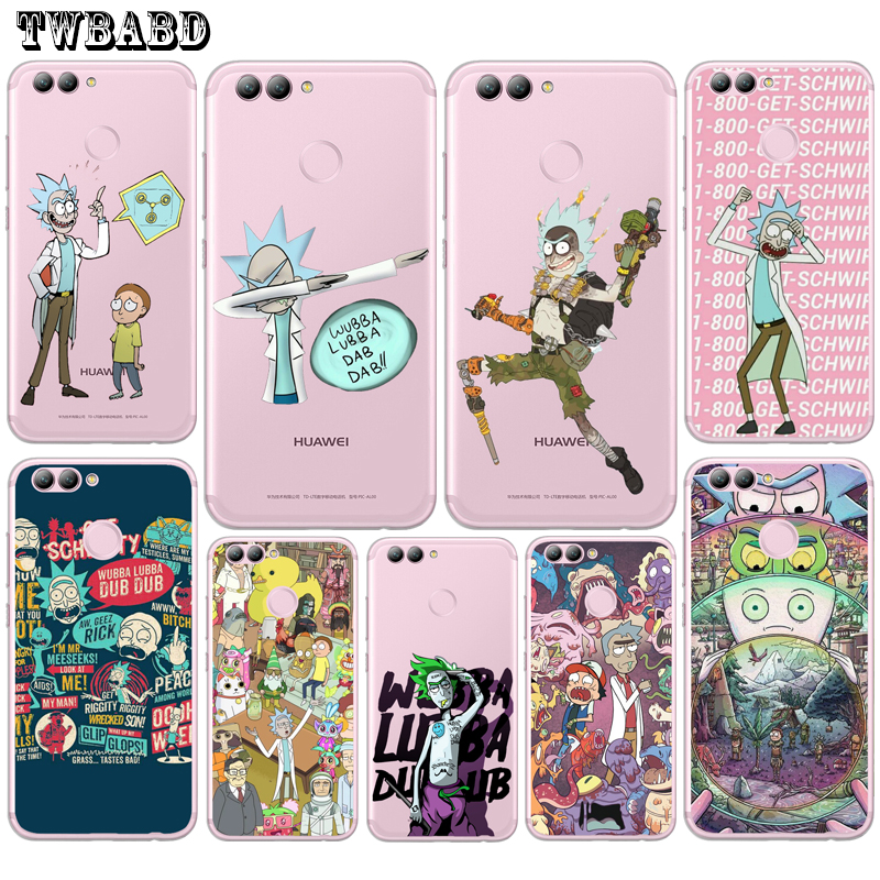Rick And Morty Funny Cartoon Comic Meme Phone Case for Fundas Huawei P20 Pro Lite P8 P9 Lite 2017 Y5 2017 Y6 II Y7 Honor 9 image