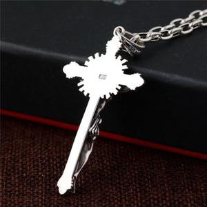Image 5 - GAGAFEEL collar de plata de ley 925 con Cruz colgante, joyería de moda, para hombres y mujeres