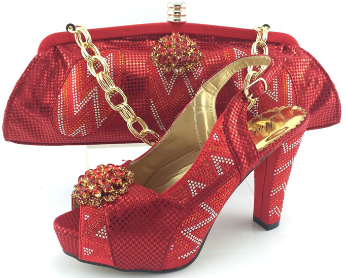 ФОТО Matching Shoes And Bags Italy With Stones High Quality Fashion Woman Pumps African Wedding Shoes And Bag Set To Match ME3320