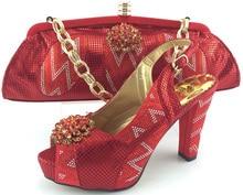 Passenden Schuhe Und Taschen Italien Mit Steinen Hochwertige Mode frau Pumpen Afrikanische Hochzeit Schuhe Und Tasche Set Entsprechen ME3320