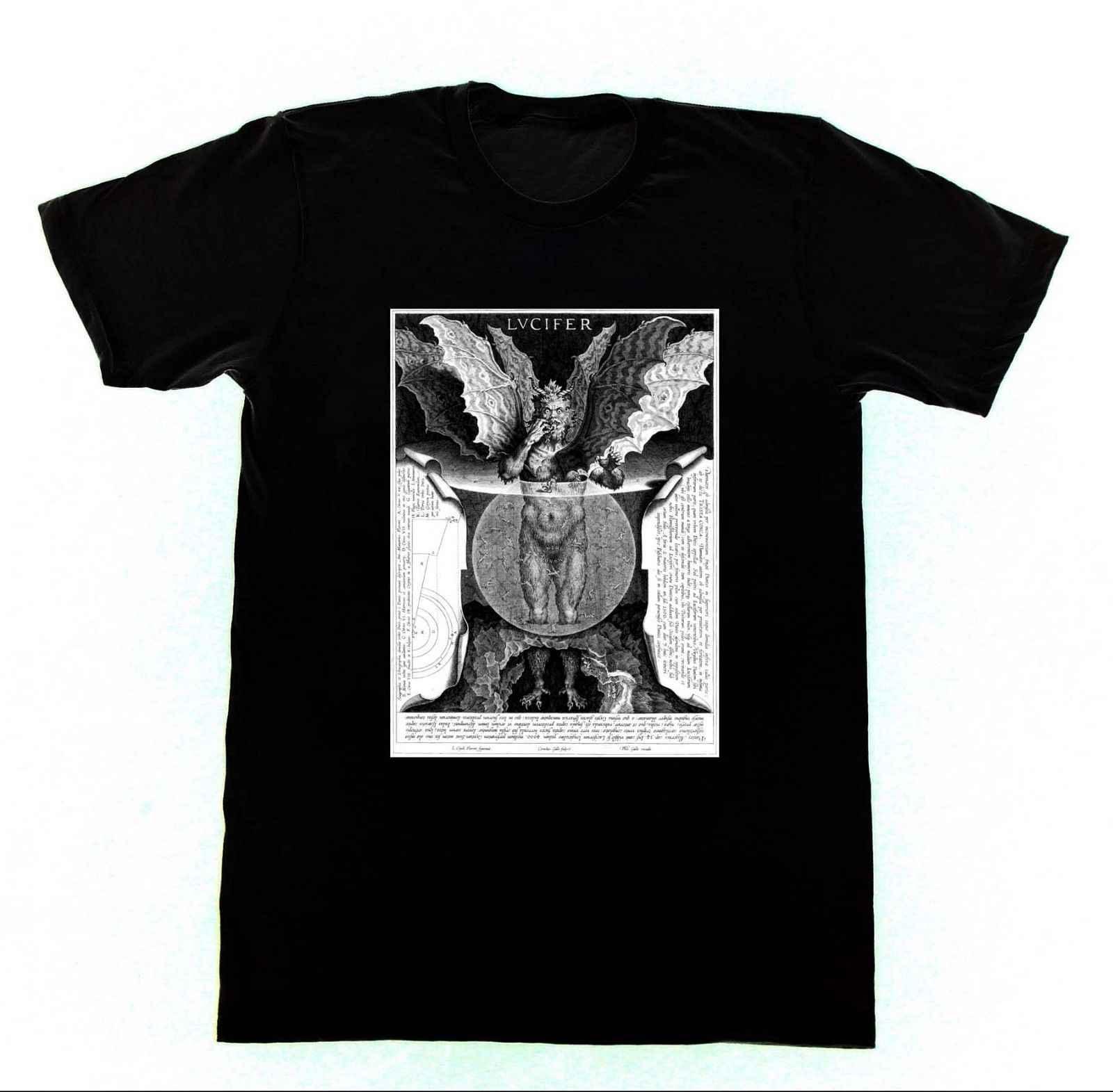 Люцифер-Данте Inferno-футболка церковь с мотивом пентаграммы колдовство Летний стиль хип-хоп для мужчин футболки