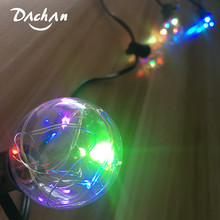 New 8M 25X G40 Christmas Led RGB Copper String Light Colorful Garland Fairy Lights For Wedding Party Xmas Outdoor Decorative