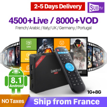 France IPTV 4K Box Leadcool Pro RK3229 Android 8.1 1G+8G Arabic Turkey Portugal Italia IP TV Box SUBTV Subscription 1 Year mattel настольная игра mattel games раптор акробат
