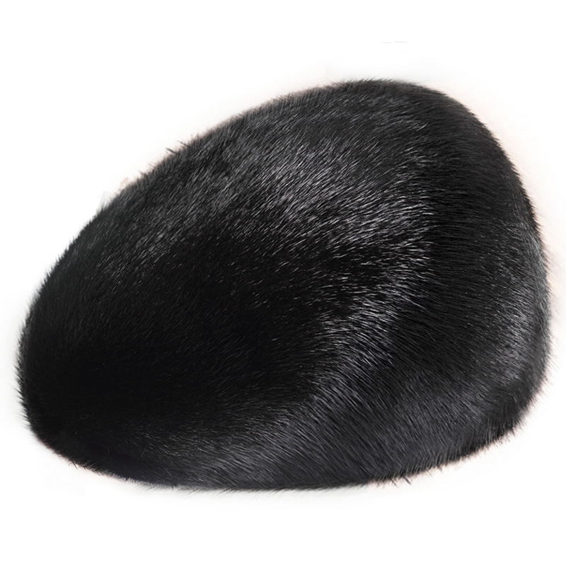 ZDFURS men mink fur hat New Fashion Men's Real Mink Fur Cap Winter Warm Top Hat Headgear Beanie Beret denpal brand new fur hat style cloak fur hat real natural black mink fur hat for woman winter warm hat cap protection ear