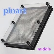 wholesale 1pcs silver Metal Pin Art 3D Sculpture Toy Shapes Design Pins Pinart clone shape pin art Pinscreen needle gift