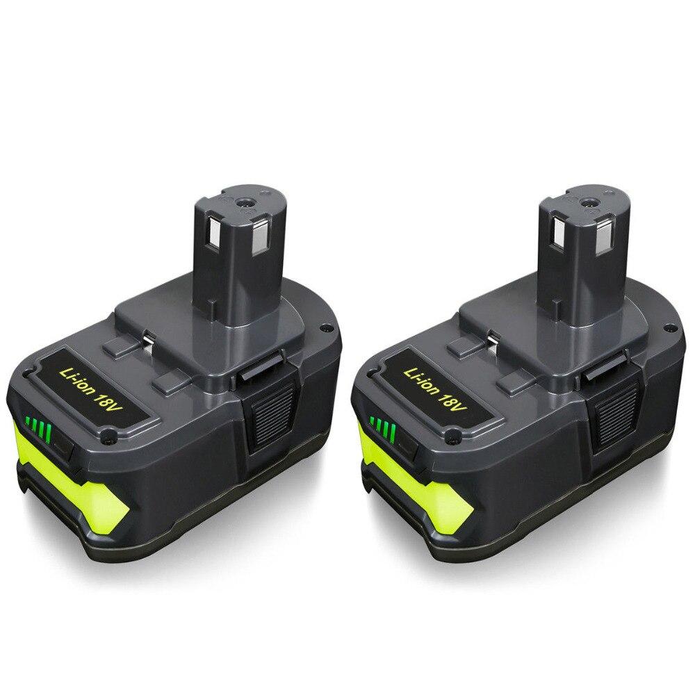 Abakoo pour Ryobi 6000 mAh 18 V P108 Li-Ion haute capacité outil de remplacement de batterie RB18L40 BPL1820 P107 P104 pour ONE + BIW180