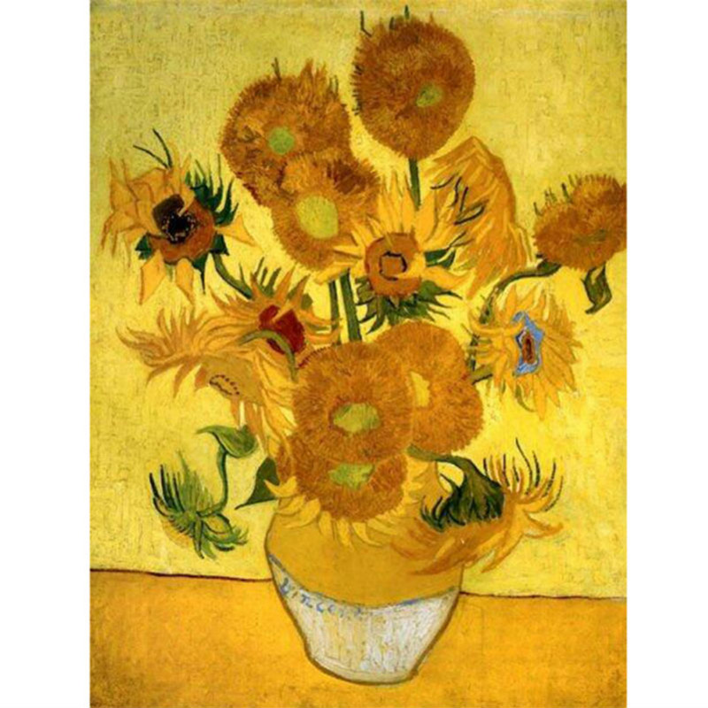Us 3 92 20 Off Diy 5d Diamond Mosaic Van Gogh Sunflowers Diamond Painting Cross Stitch Kit Diamonds Embroidery Drill Home Decoration Ry169 In