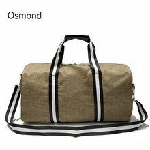 efa1443677 Sac de voyage Osmond grande capacité pour femmes bagages pour hommes voyage  sac de voyage en Nylon rayé sacs de loisirs pour fem.