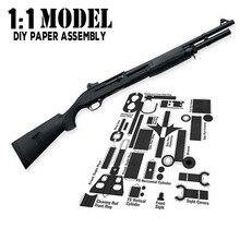 1:1 M3 Игрушечная модель пистолета из бумаги, собранная развивающая игрушка, строительные игрушки, карточные модели, строительные наборы